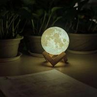 Лампа ночник Луна с тактильным управлением