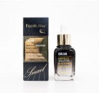 Сыворотка для лица с муцином черной улитки Farm stay DR.V8 Ampoule Solution Black Snail