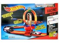 Трек Хот Вилс безумное кольцо с пускателем  + 2 машинки hot whells