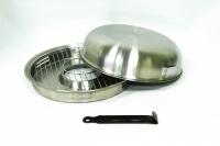 Сковорода гриль-газ D-504 нерж.сталь