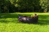 Надувной лежак Ламзак темно-серый