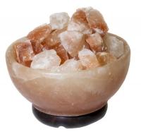 Солевая лампа Ваза с камнями 3 - 5 кг