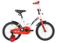 АКЦИЯ! Велосипед детский NOVATRACK 14 STRIKE белый-красный