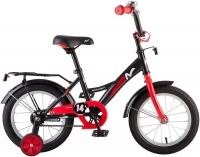 АКЦИЯ! Велосипед детский NOVATRACK 14 STRIKE чёрный-красный