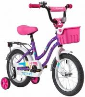 АКЦИЯ! Велосипед детский NOVATRACK 14 TETRIS фиолетовый
