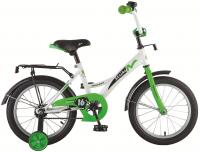 АКЦИЯ! Велосипед NOVATRACK 16 STRIKE белый-зелёный