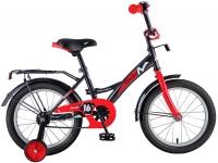 АКЦИЯ! Велосипед детский NOVATRACK 16 STRIKE черный-красный