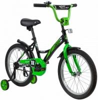 АКЦИЯ! Велосипед детский NOVATRACK 18 STRIKE черный-зелёный
