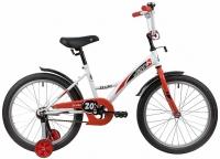 АКЦИЯ! Велосипед детский NOVATRACK 20 STRIKE белый-красный