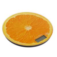 """Весы электронные кухонные LuazON LVK-701 до 7 кг, круглые, стекло, """"Апельсин"""""""