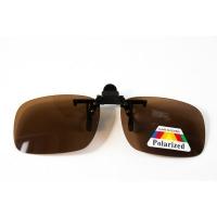 АКЦИЯ! Водительские клипоны на очки, в футляре коричневые 3,5 см