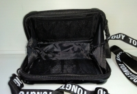 Женская сумка клатч с ремнем пластик черная